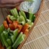 Legumes em palitos com creme de fruta e iogurte (a partir dos 9 meses)