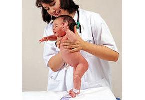 Reflexos num bebé recém-nascido